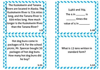 Common Core Task Cards Set #1