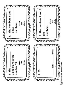 Go Math Chapter 1 Task Cards