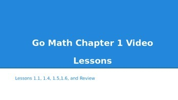 Go Math Chapter 1 Video Lessons