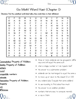 Addition and Subtraction Word Search (Grade 3) Common Core