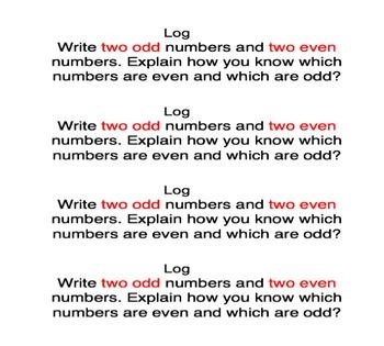 Go Math Chapter 1 Writing Logs