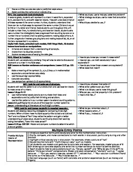 Go Math Chapter 1 and 2 Unit Plan Grade 2 with Multiple Entry Points and Rigor