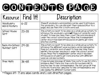 Go Math Chapter 1 and 3 Resource