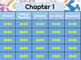 First Grade Go Math! Chapter 1 jeopardy review game (Google Slides)