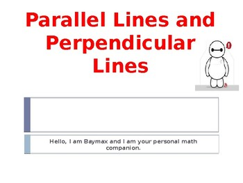 Go Math Chapter 10.3 Parellel and Perpendicular Lines with Big Hero 6