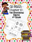 Go Math Chapter 10 - 4th Grade - Two Dimensional Figures Practice