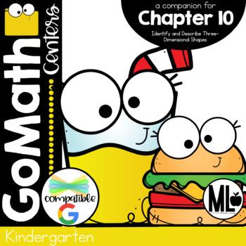 Go Math! Chapter 10 Centers for KINDERGARTEN!