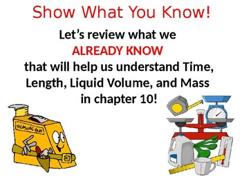 Go Math Chapter 10 Intro Time, Length, Liquid Volume, Mass Grade 3 PowerPoint