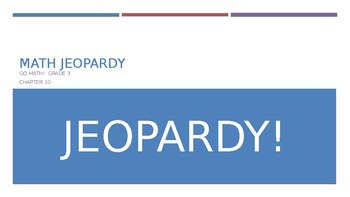 Time and Measurement Jeopardy (Grade 3)
