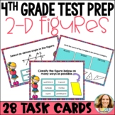 4th Grade Test Prep: Two-Dimensional Figures Task Cards