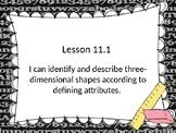 Go Math! Chapter 11 3D Geometry - First Grade