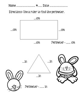 Go Math Chapter 11 3rd Grade - Perimeter and Area - Spring