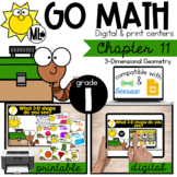 GoMath-First Grade Math Centers, Three Dimensional Geometry, Chapter 11