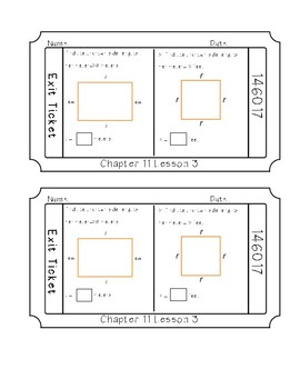 Go Math Chapter 11- Exit tickets *Area & Perimeter*