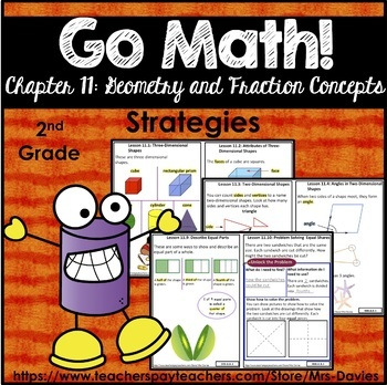 Go Math! Chapter 11: Geometry and Fraction Concepts Strategies Reference Book