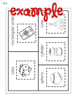 Go Math Chapter 11 Interactive Notebook