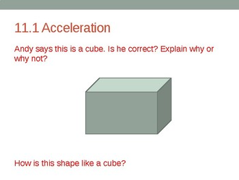 Go Math! Chapter 11 Numeracy Development - First Grade