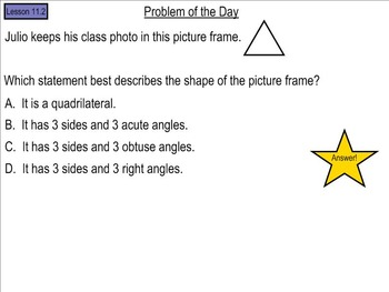 Go Math! Chapter 11 Problem of the Day, 5th Grade- SMART Board