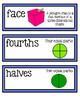 Go Math Chapter 11 Second Grade Vocabulary Cards