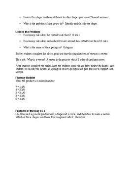 5th Grade Go Math Ch. 11 Unit Lesson Plans