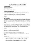 5th Grade Go Math Ch. 11 Unit Lesson Plans