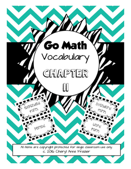 Go Math Chapter 11 Vocabulary