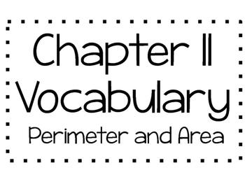 Go Math Chapter 11 Vocabulary 3rd Grade