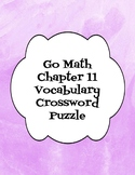 Go Math Chapter 11 Vocabulary Crossword Puzzle