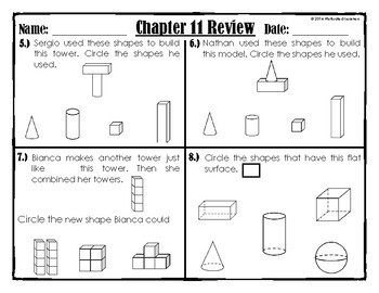 """Chapter 11 Review """"Go Math"""""""