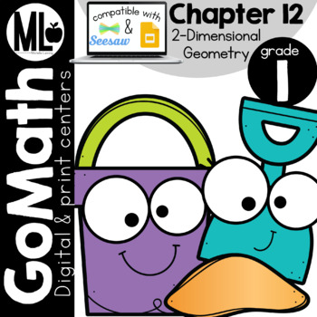 GoMath-First Grade Math Centers, Two Dimensional Geometry, Chapter 12