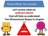 Go Math Chapter 12 Introduction to Two-Dimensional Shapes Grade 3