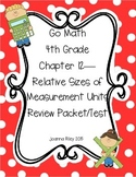 Go Math Chapter 12 - Measurement Units - 4th Grade - Review with Answers