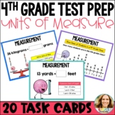 4th Grade Test Prep | Customary and Metric Measurement Task Cards