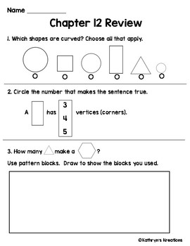 Go Math Chapter 12 Review Test
