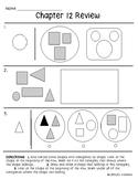 Go Math Chapter 12 Review Test: Kindergarten