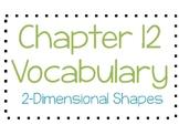 Go Math Chapter 12 Vocabulary 3rd Grade
