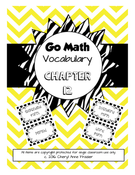 Go Math Chapter 12 Vocabulary (with abbreviations)