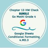 Distance Learning Go Math Grade 4 Chapter 13 Homework Google Sheets Bundle