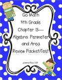 Go Math Chapter 13 - Perimeter and Area - 4th Grade - Review with Answers