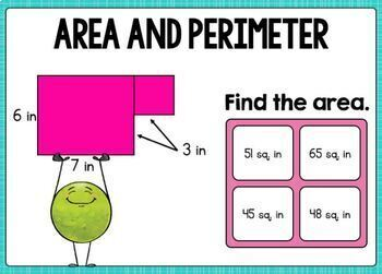 Go Math Chapter 13 Review Boom Cards: Algebra: Perimeter and Area