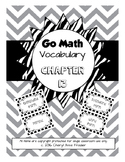 Go Math Chapter 13 Vocabulary