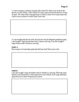 Go Math Chapter 2 Exam modified- English