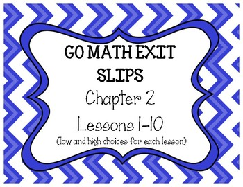 Go Math Chapter 2 Exit Slips, Grade 4