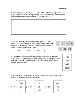 Go Math Chapter 2 Modified Exam