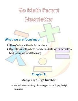 4th Grade Go Math Chapter 2 Newsletter