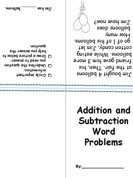 Word Problems Book