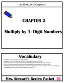 Go Math- Chapter 2 Review Packet - 4th Grade