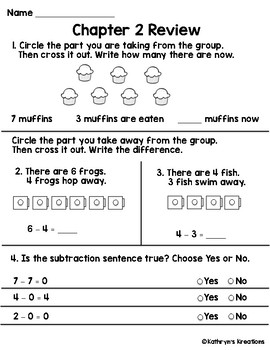 Go Math Chapter 2 Review Test: First Grade