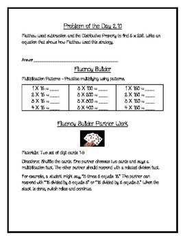 Go Math Chapter 2 Supplementary Packet, Grade 4