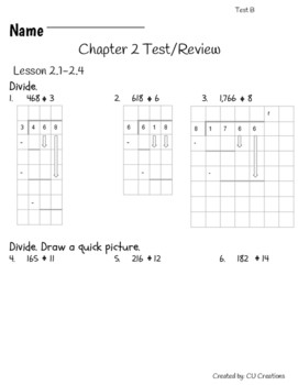 Go Math! Chapter 2 Test/Review with Answer Key